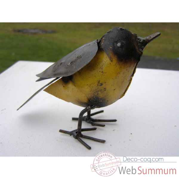 Video Petit Canari en Metal Recycle Terre Sauvage  -ma85