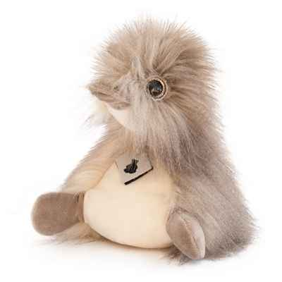 Peluche coin coin panache taupe - 22 cm -HO2692