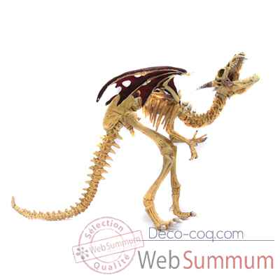Figurine le dragon squelette rouge-60437
