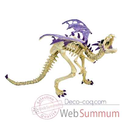 Video Figurine le dragon squelette violet-60230