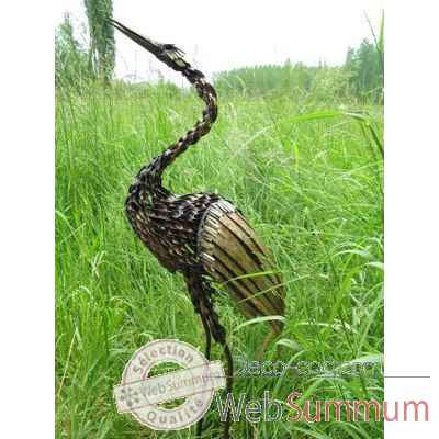 Video Heron Torsadee en Metal Recycle Terre Sauvage  -ma80