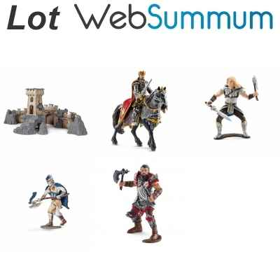 Lot Chateau fort et 4 chevaliers Schleich -LWS-278