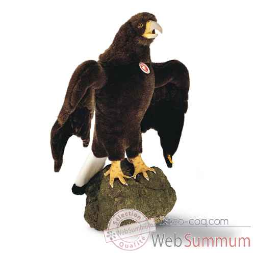 Video Peluche Steiff Grand aigle studio brun fonce-505218