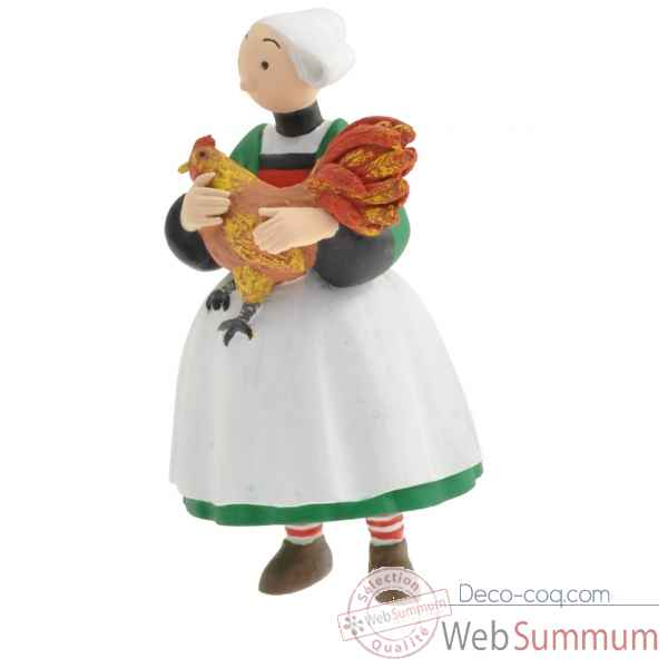 Figurine becassine et son coq collections becassine Plastoy -61023