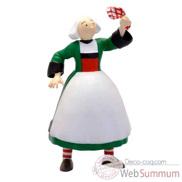 Figurine becassine mouchoir collections becassine Plastoy -61000