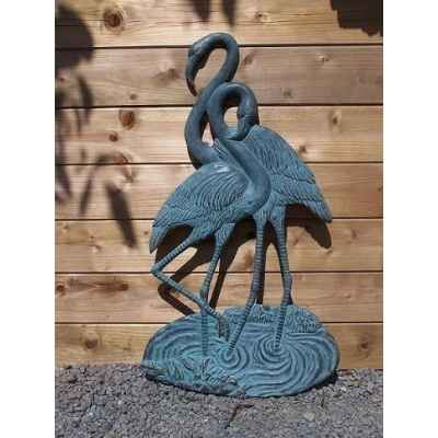 2 flamingo décoration murale -HW0733BR-V